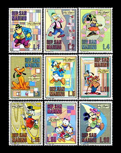 francobolli disney