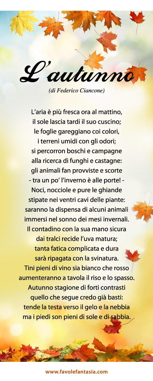 Amato L'autunno | Favole e Fantasia SN19