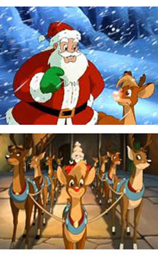 Rudolph e Babbo Natale