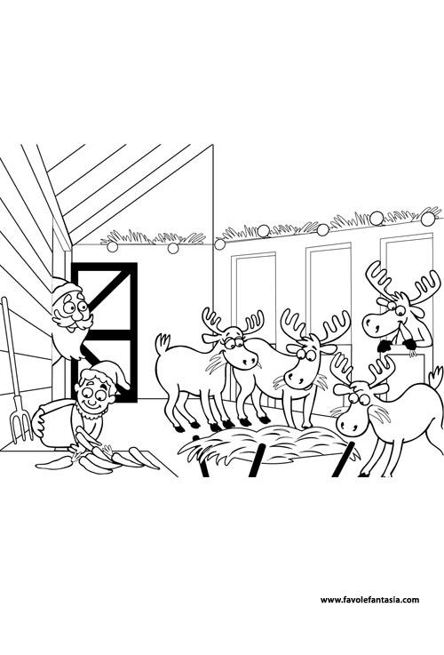 Babbo Natale renne