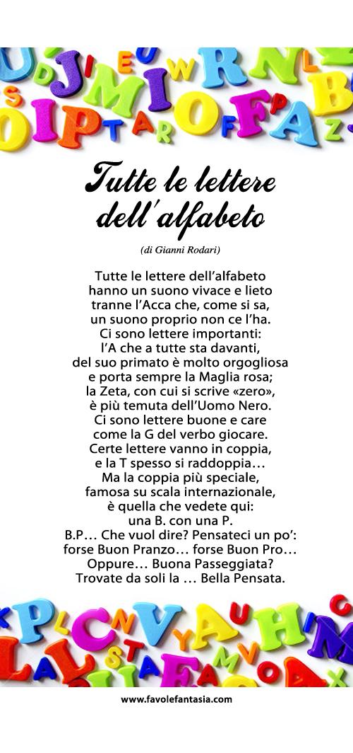 Tutte le lettere dell'alfabeto