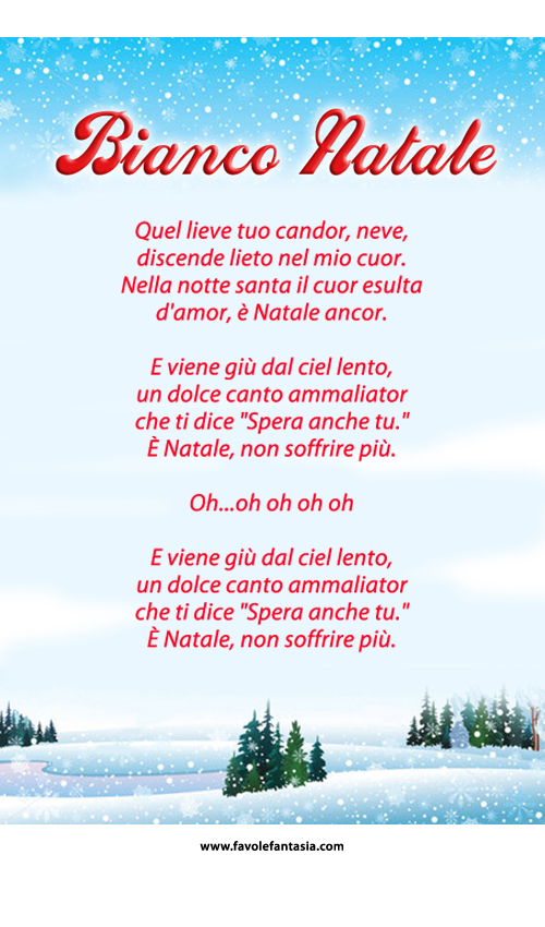 Bianco Natale canzone