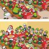 Il cenone di Babbo Natale: trova le differenze