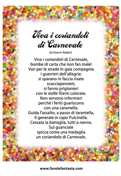 I coriandoli di Carnevale