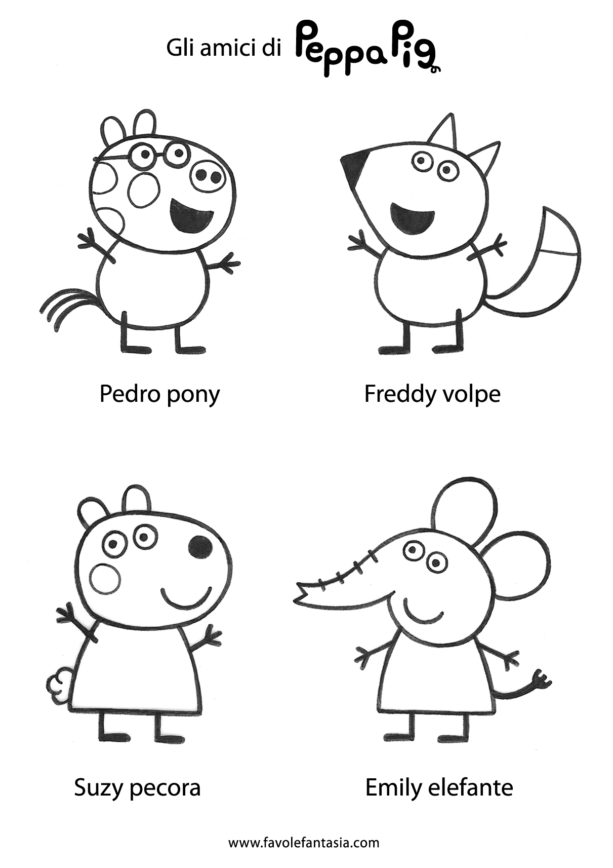 Free coloring pages of peppa pig pedro