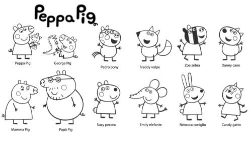 Peppa Pig da colorare