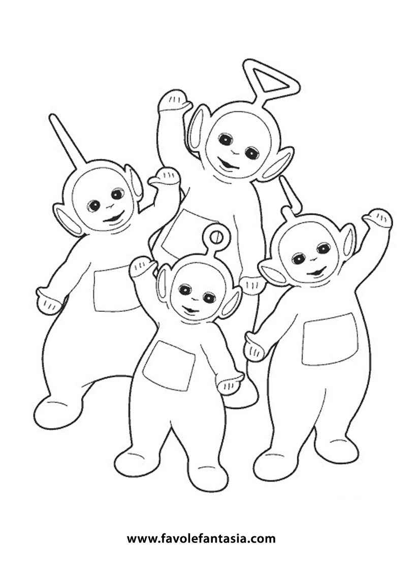 Famoso Teletubbies da colorare | Favole e Fantasia VJ08