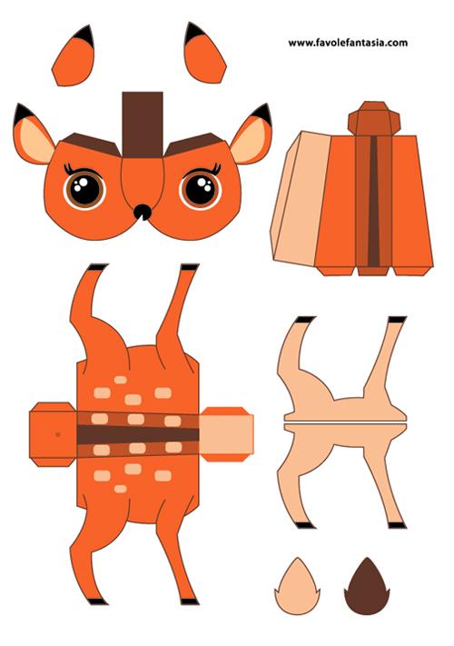 Schema Bambi da stampare