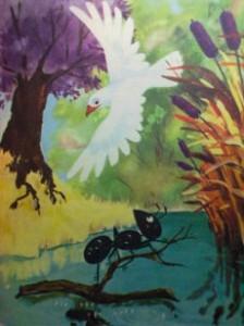 La colomba e la formica