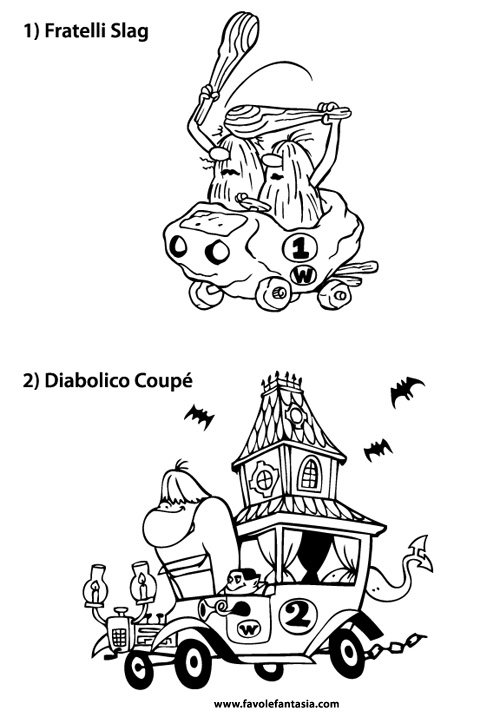 wacky races coloring pages - photo #22