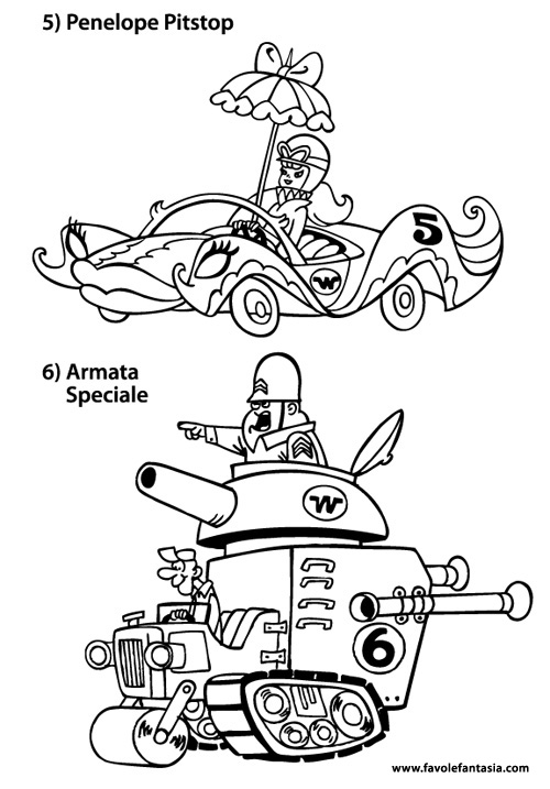 wacky races coloring pages - photo #12