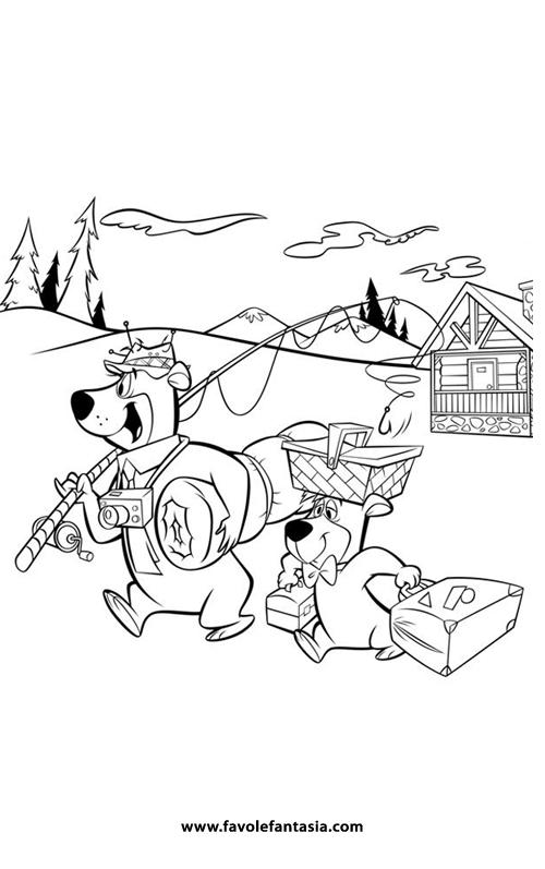 Yoghi e bubu a pesca
