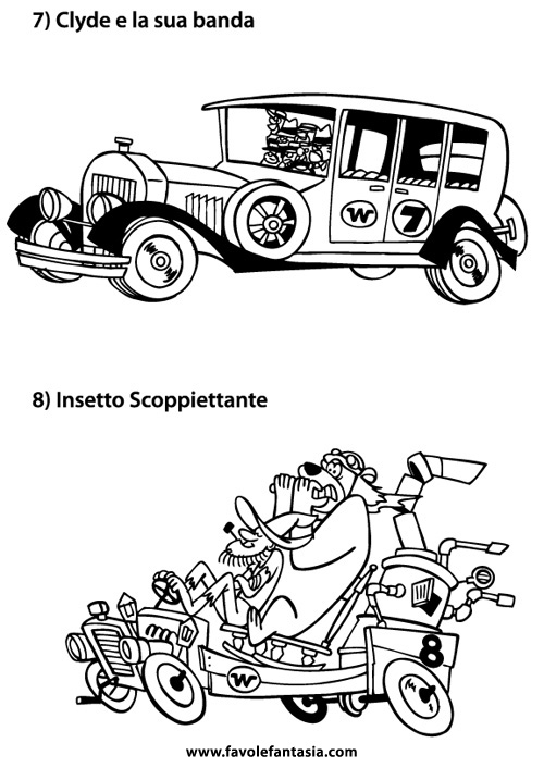 wacky races da colorare colouring pages