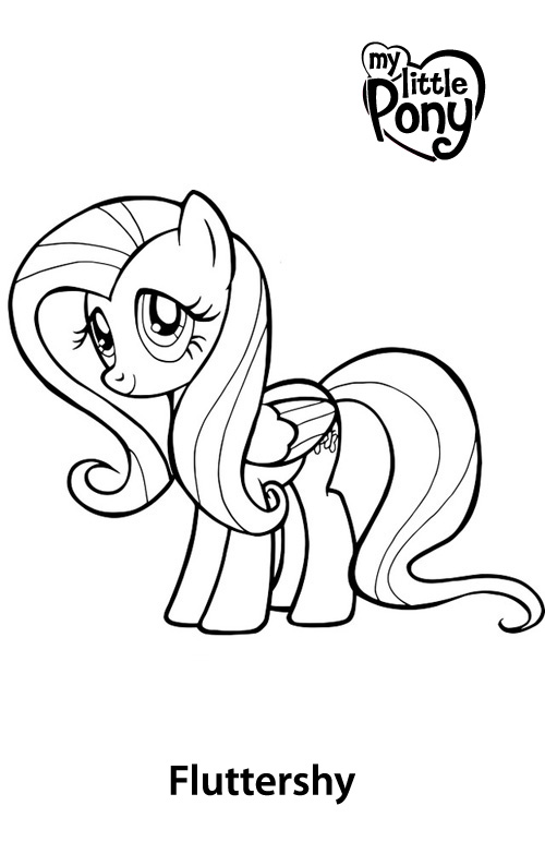 at the gala fluttershy coloring pages | Little Pony da colorare | Favole e Fantasia
