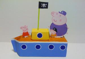 la barca di Peppa Pig