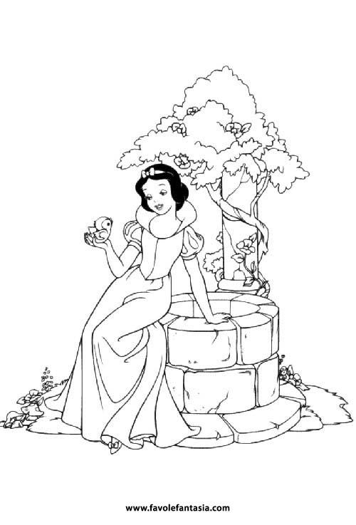 Biancaneve Da Colorare Favole E Fantasia