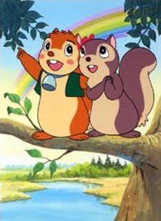 Banner lo scoiattolo favole e fantasia