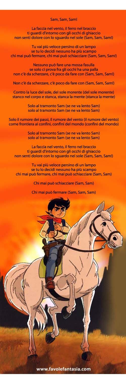 Sam il ragazzo del west Sigla