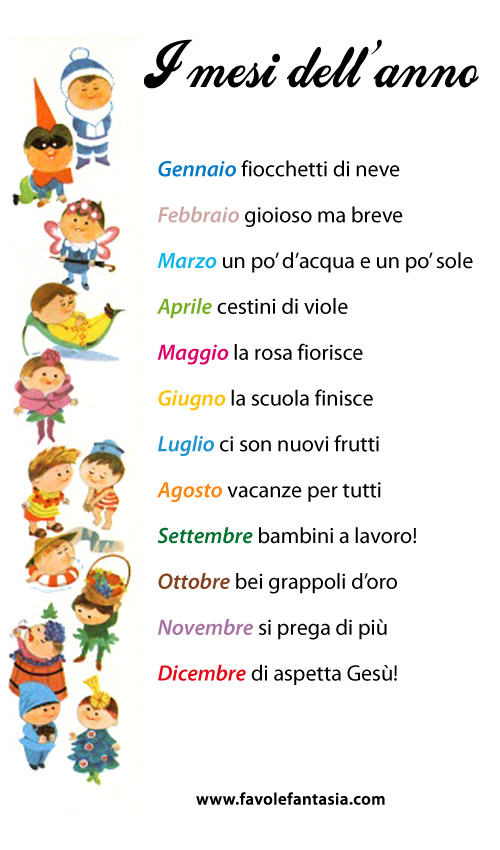 I mesi dell'anno_filastrocca