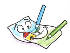 Il foglio e le matite colorate4