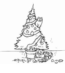 Il gatto e l'albero si Natale