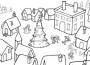 Villaggio di babbo Natale_da colorare