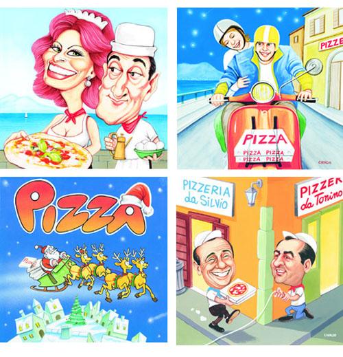 Cartoni pizza illustrati_Luca Cianciotif