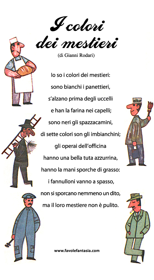 Gianni Rodari_i colori dei mestieri