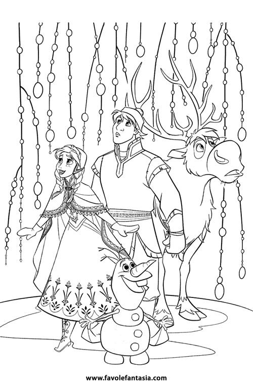 Personaggi Di Frozen Da Colorare.Frozen Da Colorare Favole E Fantasia