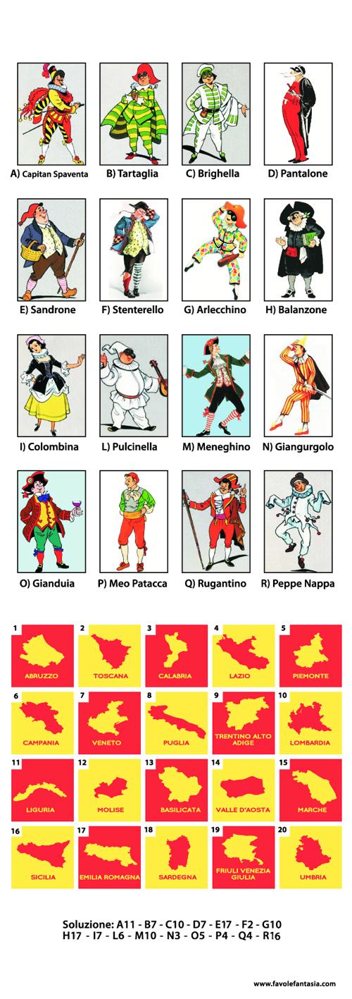 Le-maschere-italiane gioco