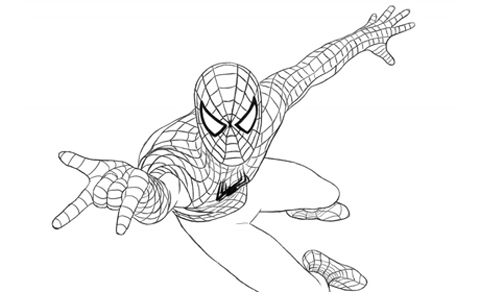 L uomo ragno da colorare favole e fantasia for Disegni spiderman da colorare