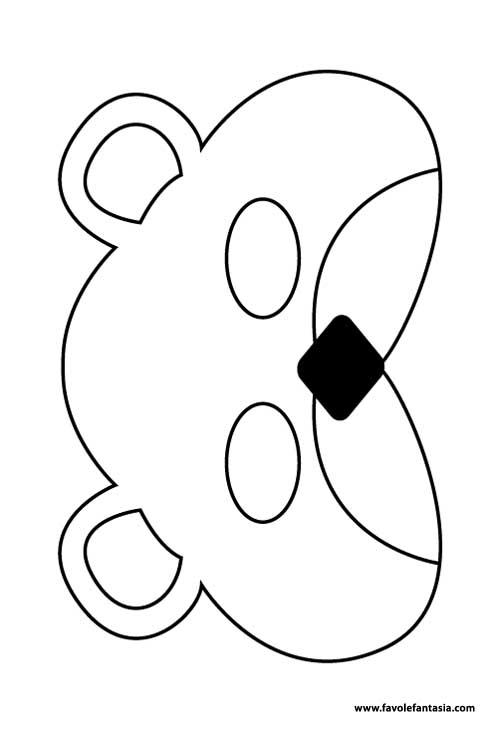maschera orsetto