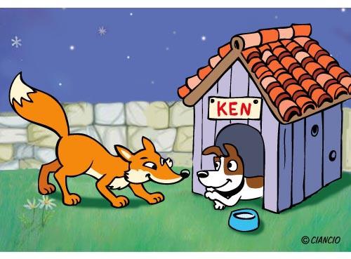 La volpe e il cane