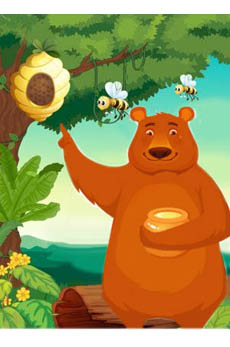 Papà orso con miele