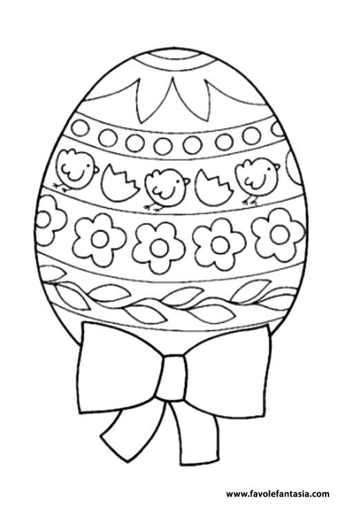 Uovo di Pasqua da colorarejpg