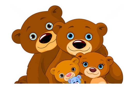 la famiglia degli orsi