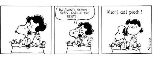 Snoopy e lucy