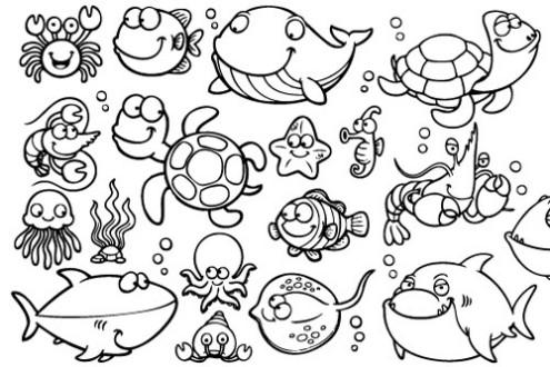 Stampa e colora favole e fantasia for Disegni di pesci da colorare e stampare gratis