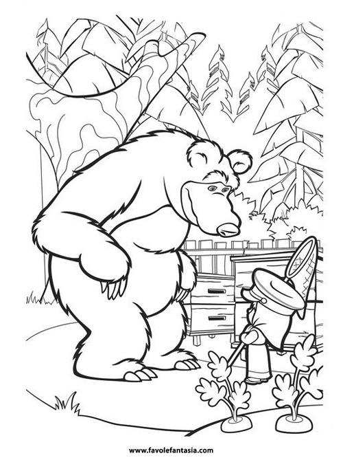 masha i medved coloring pages - photo#13