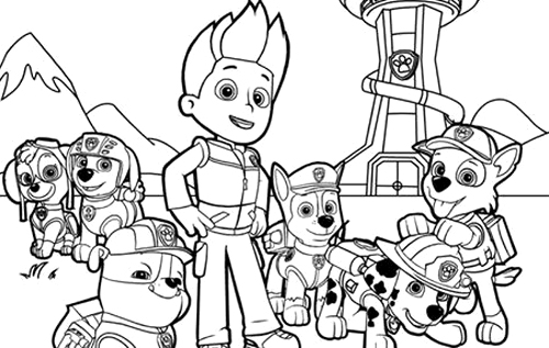 Printable Coloring Pages Of Paw Patrol : Free coloring pages