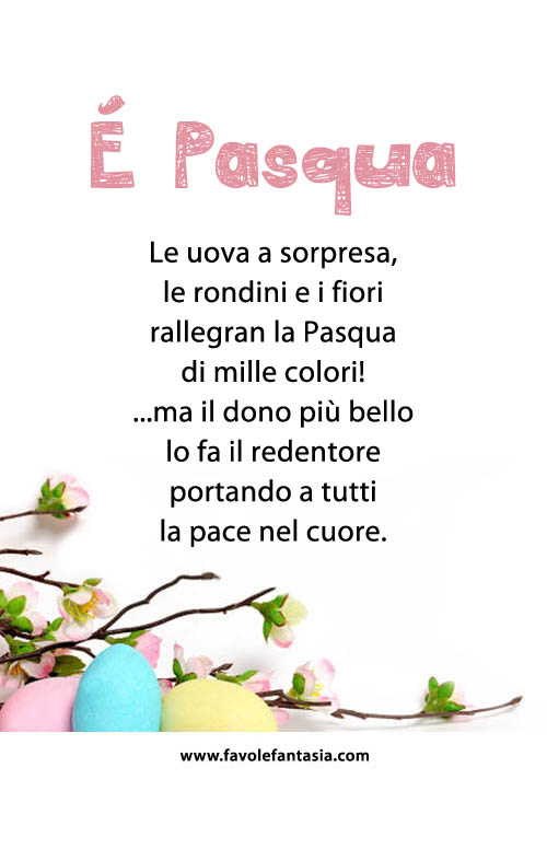 Preferenza E' Pasqua | Favole e Fantasia VY25
