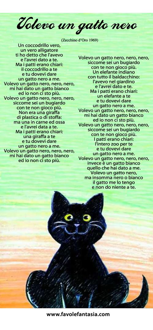 Volevo un gatto nero_canzone