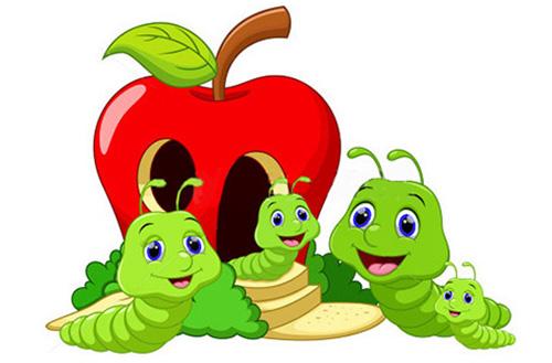 mela lombrico