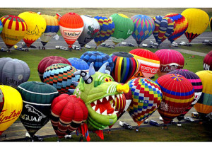 Hot air balloons in France