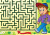 Maze 3 with schoolboy