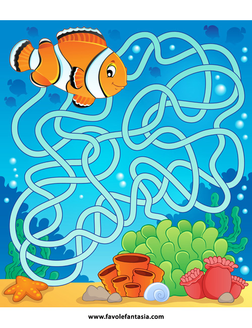 Maze 18 with fish theme