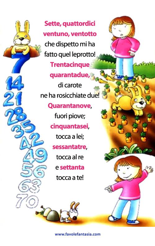 tabellina_del 7 filastrocca