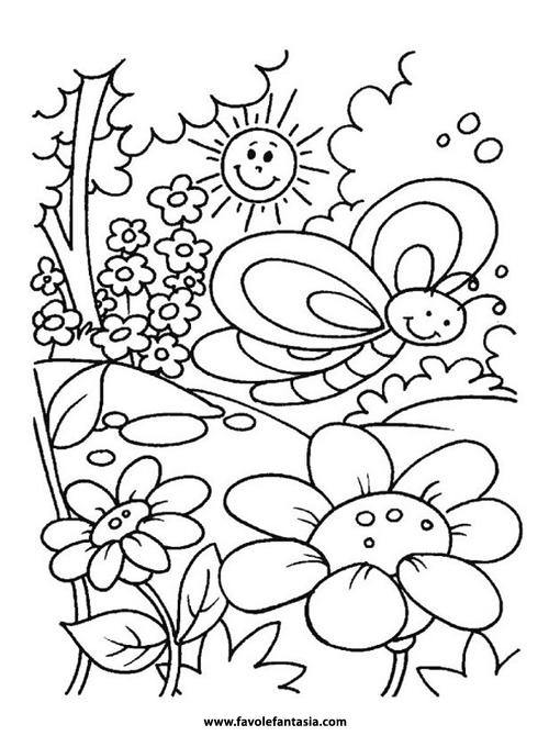 Disegni Da Colorare Primavera.Primavera Da Colorare Favole E Fantasia