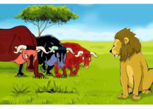 leone e tre buoi 2
