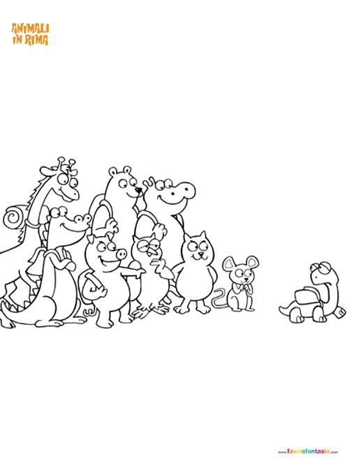 animali in rima